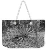 Wood Spoke Wheel Weekender Tote Bag