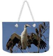 Wood Stork Preparing To Fly Weekender Tote Bag