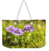 Wood Violet Weekender Tote Bag