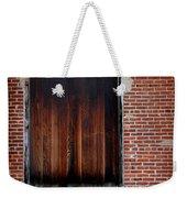 Wood Window Brick Wall Weekender Tote Bag