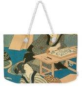Woodblock Production Weekender Tote Bag