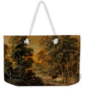 Wooded Landscape With Herdsman And Cattle Weekender Tote Bag