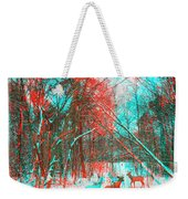 Wooded Path - Use Red And Cyan Filtered 3d Glasses Weekender Tote Bag