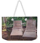 Wooden Beach Chairs Weekender Tote Bag