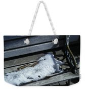 Wooden Bench With Snow 1 Weekender Tote Bag