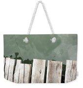 Wooden Board Against Sea Surface Weekender Tote Bag