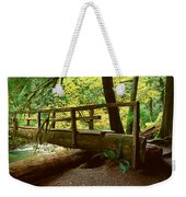 Wooden Bridge In The Hoh Rainforest Weekender Tote Bag