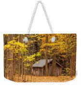 Wooden Cabin In Autumn Weekender Tote Bag