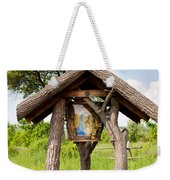 wooden shrine of holy Mother in Poland  Weekender Tote Bag