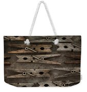 Wooden Clothespins Weekender Tote Bag
