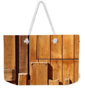 Wooden Door Detail Weekender Tote Bag by Carlos Caetano