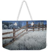 Wooden Fence Of A Friesian Horse Pasture On Windmill Island Weekender Tote Bag