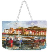 Wooden Fishing Boats In The Whitby Fleet Of Northern England Weekender Tote Bag