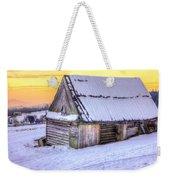 Wooden Hut In Sunset Weekender Tote Bag
