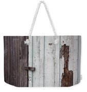 Wooden Latch Weekender Tote Bag