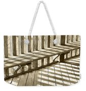 Wooden Lines - Semi Abstract Weekender Tote Bag