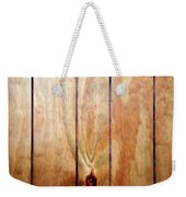 Wooden Panel Weekender Tote Bag by Les Cunliffe