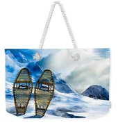 Wooden Snowshoes  Weekender Tote Bag by Bob Orsillo