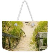 Wooden Stairs Over Dunes At Beach Weekender Tote Bag