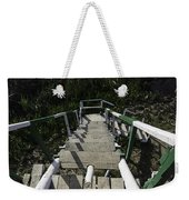 Wooden Steps Coming Down From A Watchtower Weekender Tote Bag