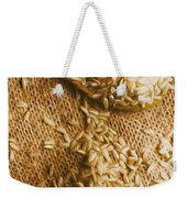 Wooden Tablespoon Serving Of Uncooked Brown Rice Weekender Tote Bag