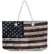 Wooden Textured Usa Flag3 Weekender Tote Bag