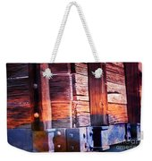Wooden Wagon Side In Colors Weekender Tote Bag