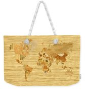 Wooden World Map 2 Weekender Tote Bag