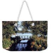 Woodfoot Bridge Of Williams Bay Wi Over Geneva Lake  Weekender Tote Bag