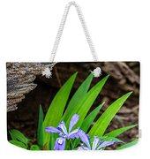 Woodland Dwarf Iris Wildflowers Weekender Tote Bag