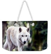 Woodland White Wolf 2 Weekender Tote Bag