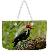 Woodpecker On A Limb Weekender Tote Bag