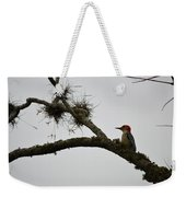 Woodpecker On Lookout Weekender Tote Bag