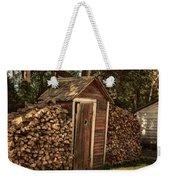 Woodpile And Shed Weekender Tote Bag