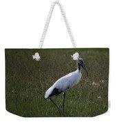 Woodstork In Field Weekender Tote Bag