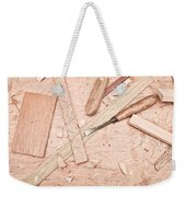 Woodwork Weekender Tote Bag by Tom Gowanlock