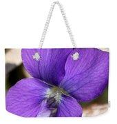 Woody Blue Violet Weekender Tote Bag