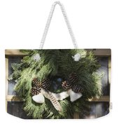 Wool And Feather Wreath Weekender Tote Bag