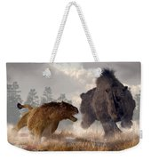 Woolly Rhino And Cave Lion Weekender Tote Bag
