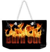 Word Burn Out In Fire Text Art Prints Weekender Tote Bag