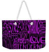 Words Of Love 2 Weekender Tote Bag