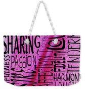 Words Of Love 3 Weekender Tote Bag