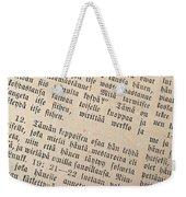 Words Of The Bible Weekender Tote Bag