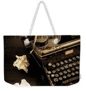 Words Punched On To Paper Weekender Tote Bag