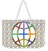 World Globe Earth Travel Graphic Digital Colorful Pattern Signature Art  Navinjoshi Artist Created I Weekender Tote Bag