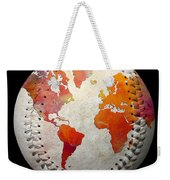 World Map - Rainbow Passion Baseball Square Weekender Tote Bag by Andee Design