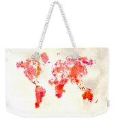 World Map 1h Weekender Tote Bag