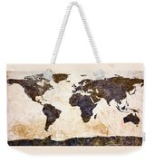 World Map Abstract Weekender Tote Bag by Bob Orsillo