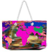 World Map And Human Life Weekender Tote Bag