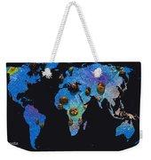 World Map And Sagittarius Constellation Weekender Tote Bag